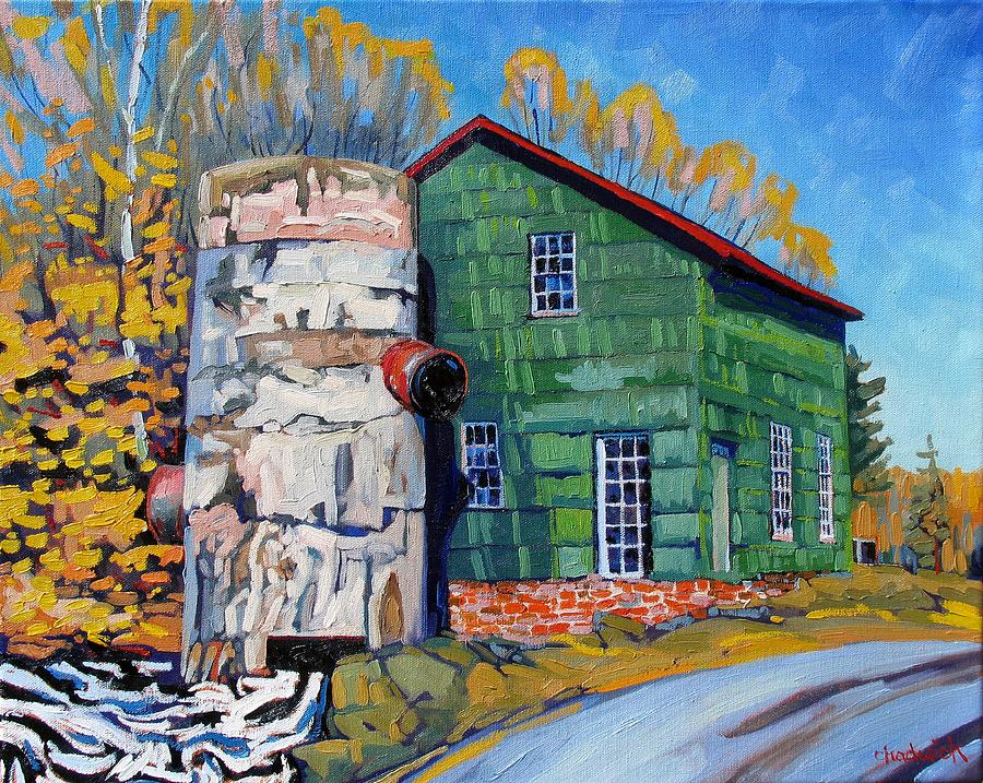 Bedford Painting - Bedford Mills by Phil Chadwick