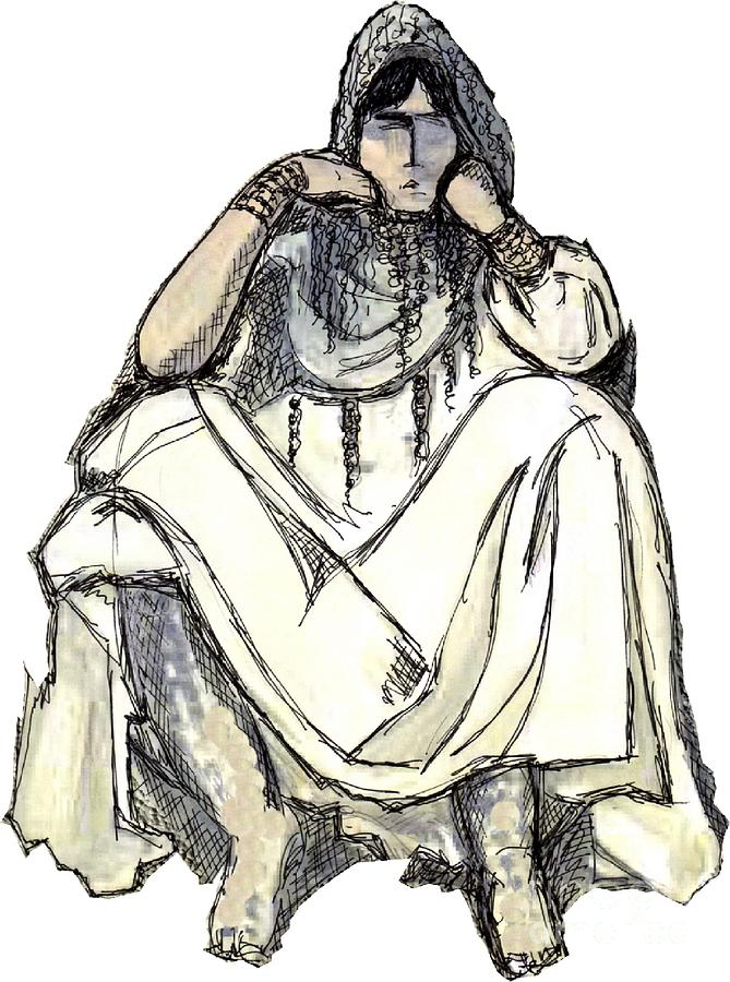 Figurative Painting Painting - Bedouin 1 by Mimo Krouzian