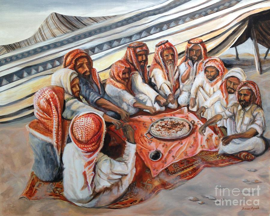 Bedouin at Dusk by Yvonne Ayoub