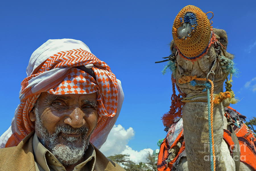Camel Photograph - Bedouin by George Paris