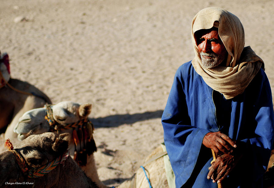 Bedouin Photograph - Bedouin Man In Blue by Chaza Abou El Khair
