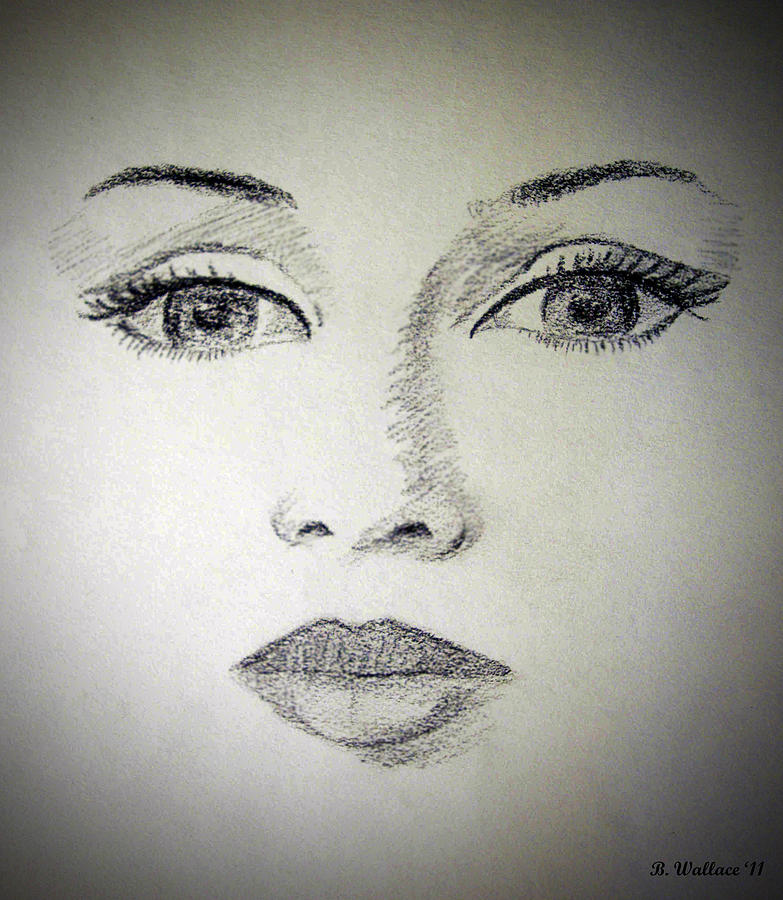 Bedroom Eyes Drawing By Brian Wallace