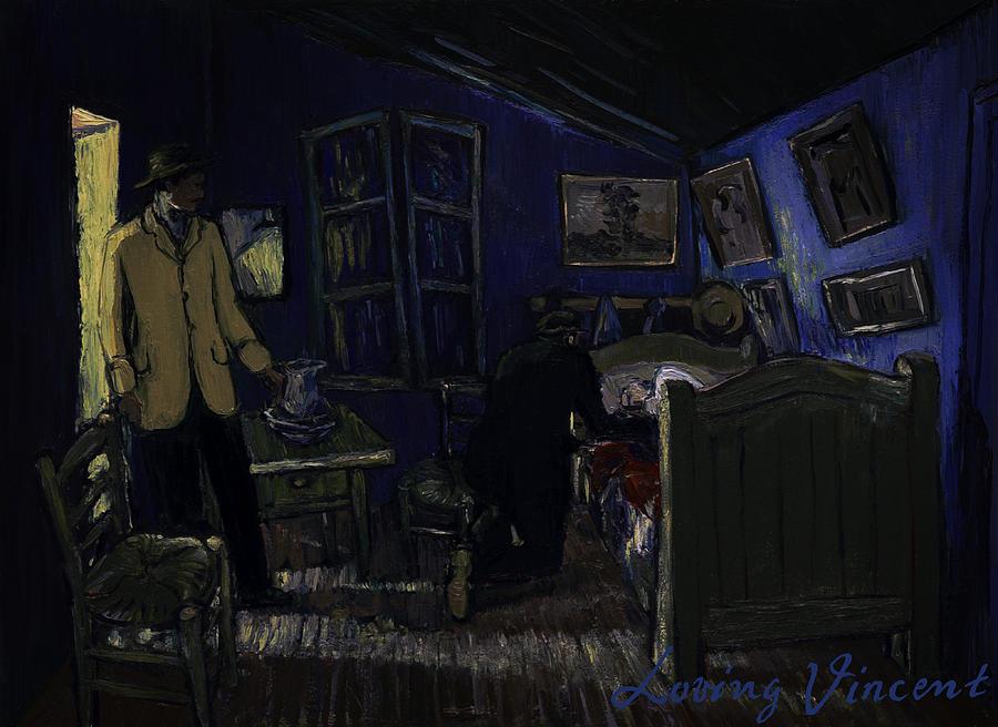 Bedroom in Arles by Night Painting by Jerzy Lisak