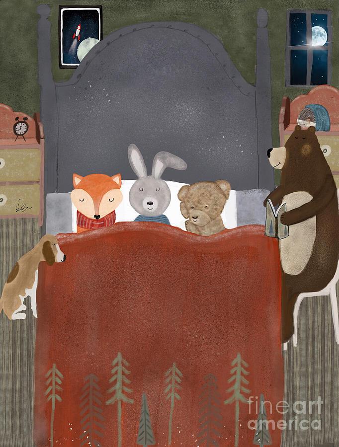 Fox Painting - Bedtime Stories by Bri Buckley