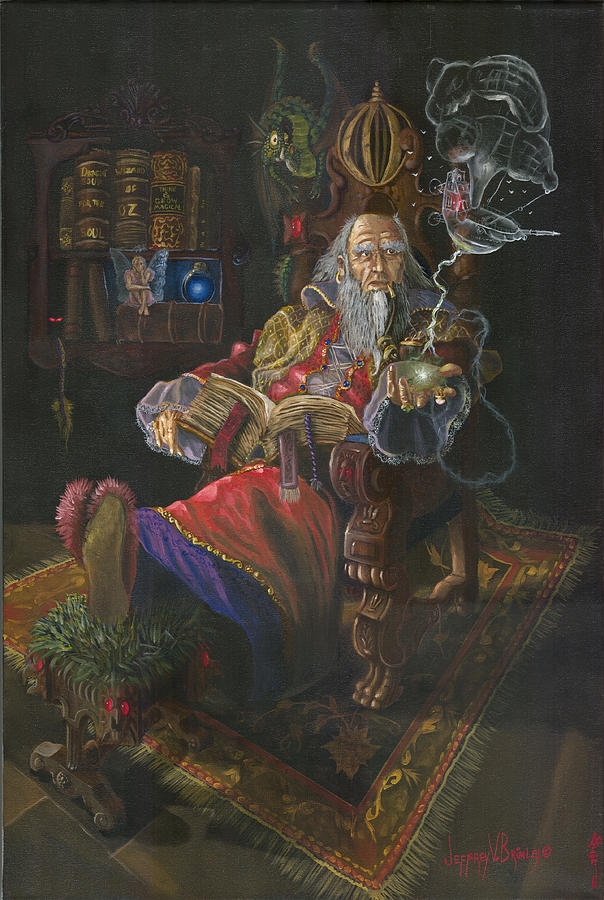 Wizard Painting - Bedtime Stories by Jeff Brimley