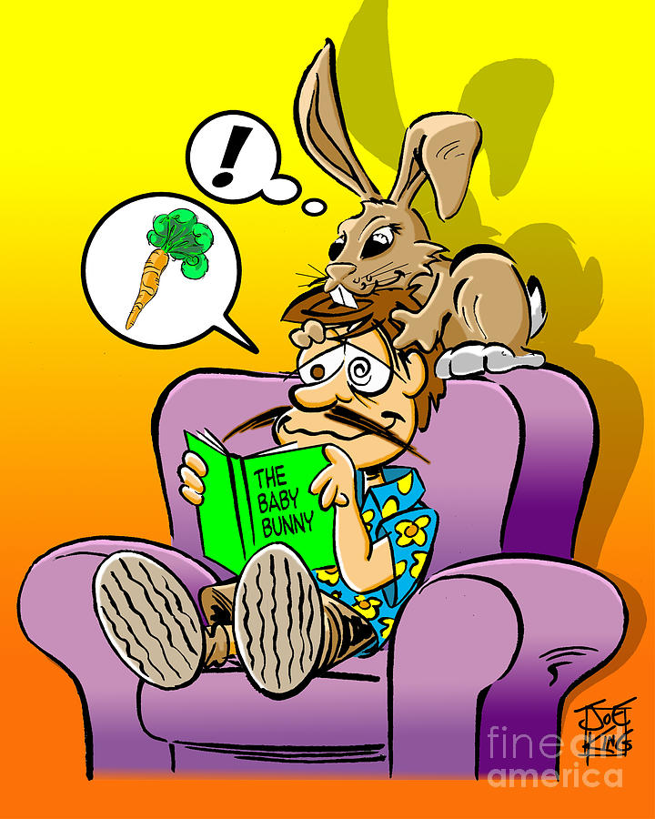 Cartoon Digital Art - Bedtime Story by Joe King