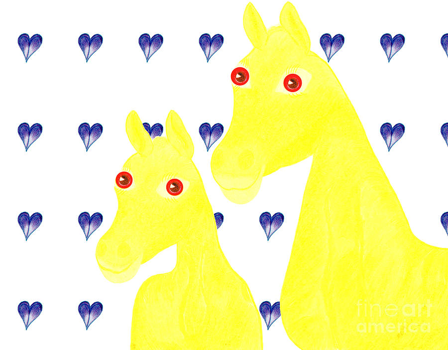 Horses Painting - Bee And Bella by Tess M J Iroldi