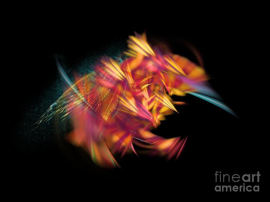 Bee Digital Art - Bee Fractal Art by Justyna Jaszke JBJart