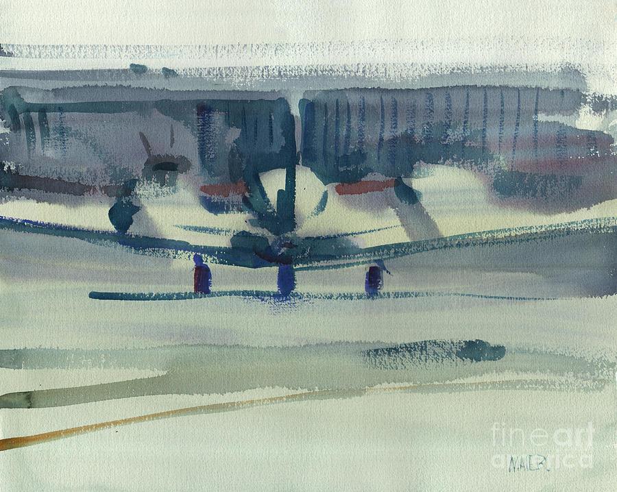 Beechcraft Painting - Beechcraft King Air by Donald Maier