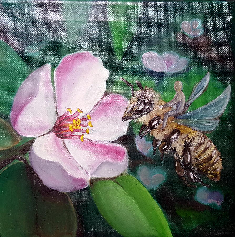 Bee Painting - Beekeeper by Zuzana Perner