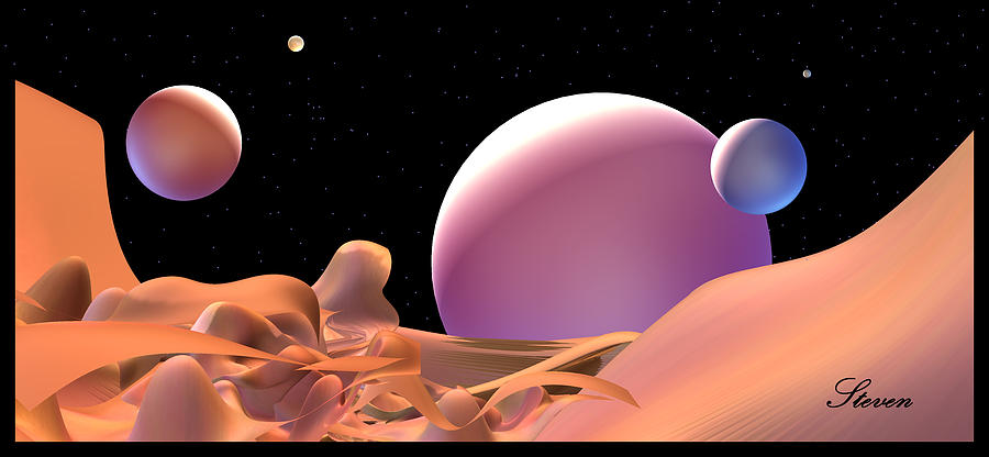 Planets Digital Art - Been There, Done That by Steven Lebron Langston