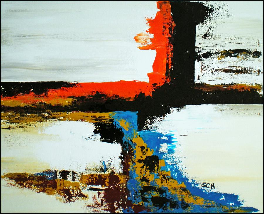 Abstract Painting - Been Through The Desert On A Horse Named Diamond by Scott Haley