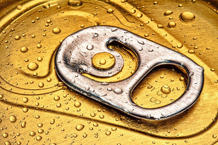 Can Photograph - Beer Can Pull Tab by Tom Mc Nemar