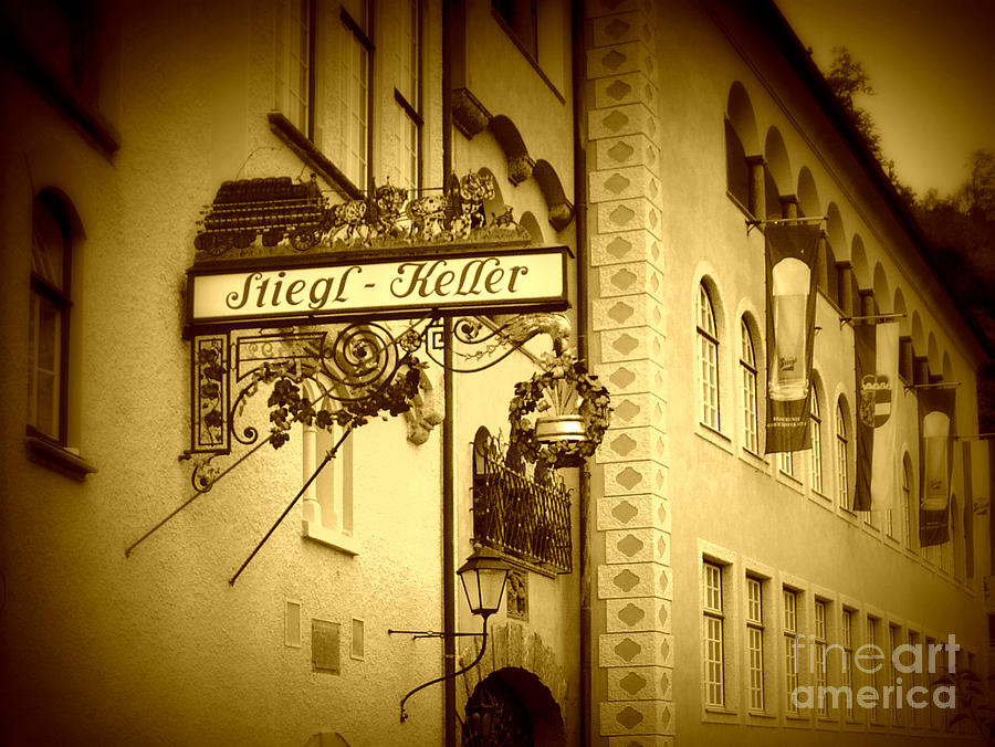 Beer Hall Photograph - Beer Cellar In Salzburg by Carol Groenen