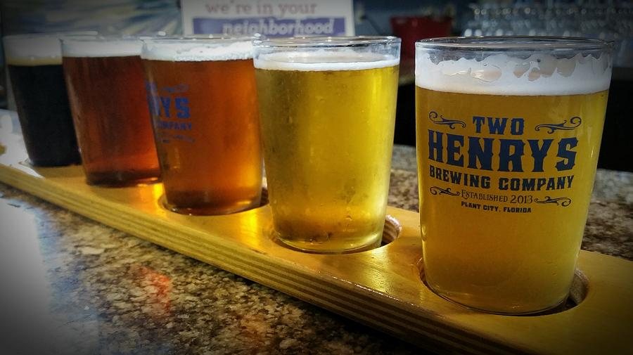 Beer Photograph - Beer Flight by April Wietrecki Green