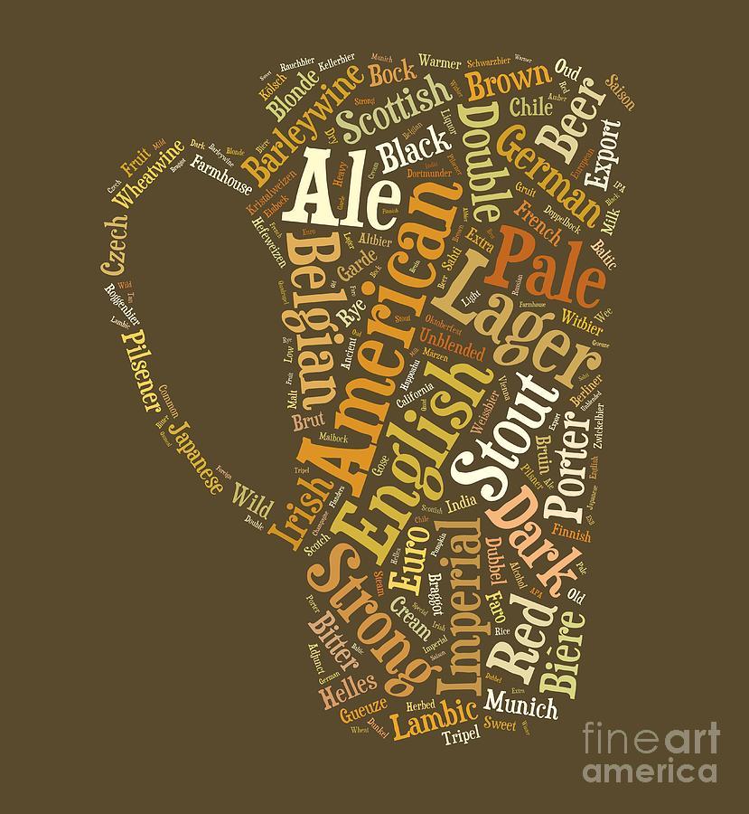 Beer Digital Art - Beer Lovers Tee by Edward Fielding