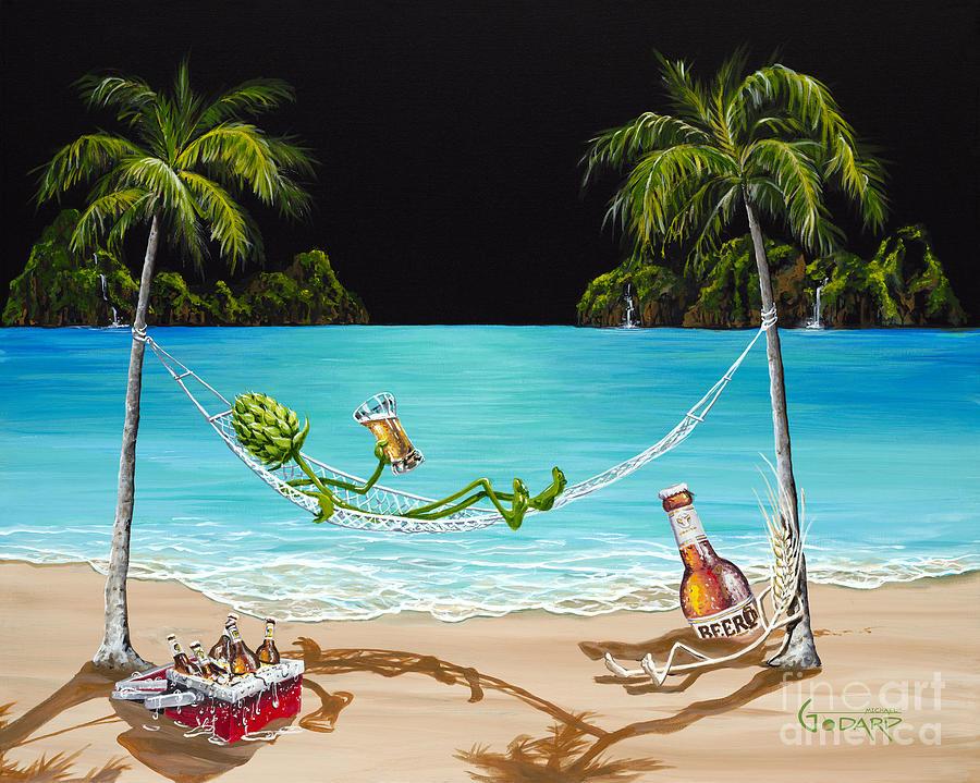 Beer Painting - Beer Thirty by Michael Godard
