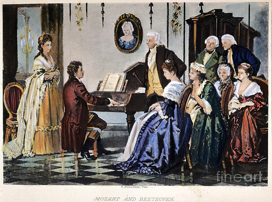 1787 Photograph - Beethoven & Mozart, 1787 by Granger