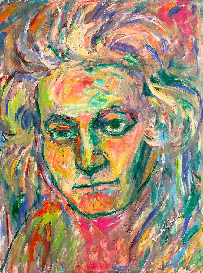 Expressionism Painting - Beethoven Energy  by Kendall Kessler