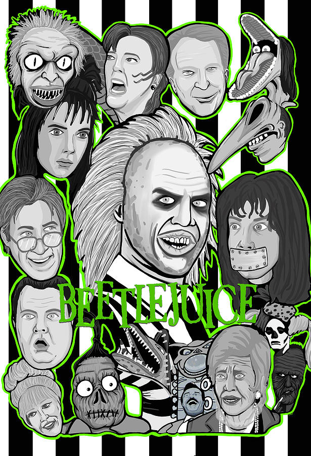 Beetlejuice Painting - Beetlejuice Tribute by Gary Niles