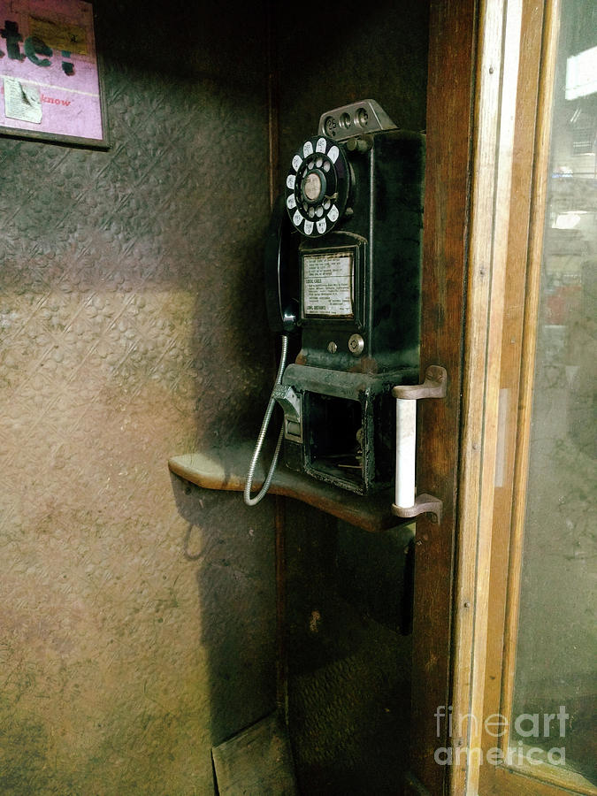 Telephones Photograph - Before Cell Phones  by Steven Digman