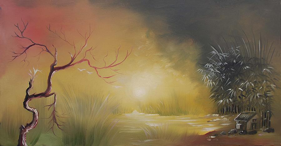 Scene Painting - Before Dark by Bishan Singh Rana