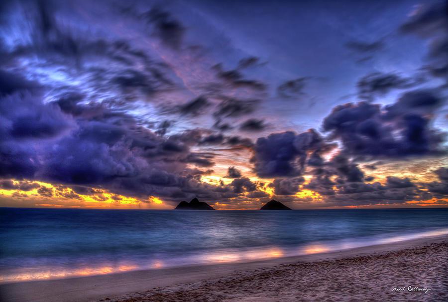 Lanikai Beach Sunrise Photograph - Before The Dawn Lanikai Beach Oahu Hawaii Collection Art by Reid Callaway