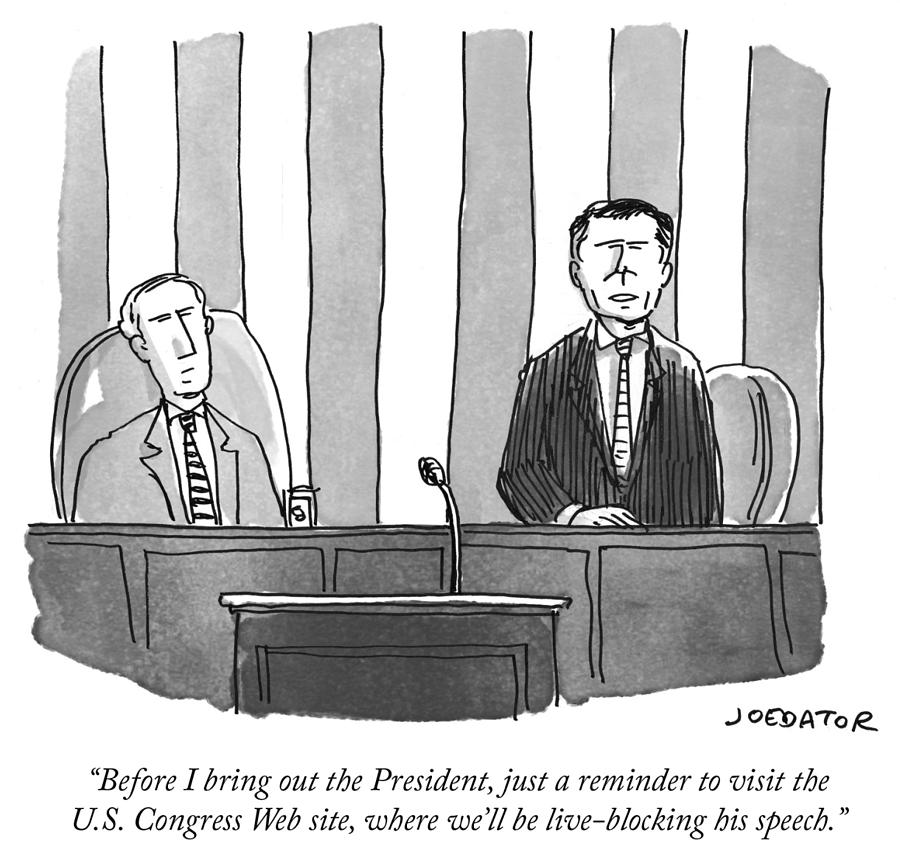 Before I bring out the President Drawing by Joe Dator