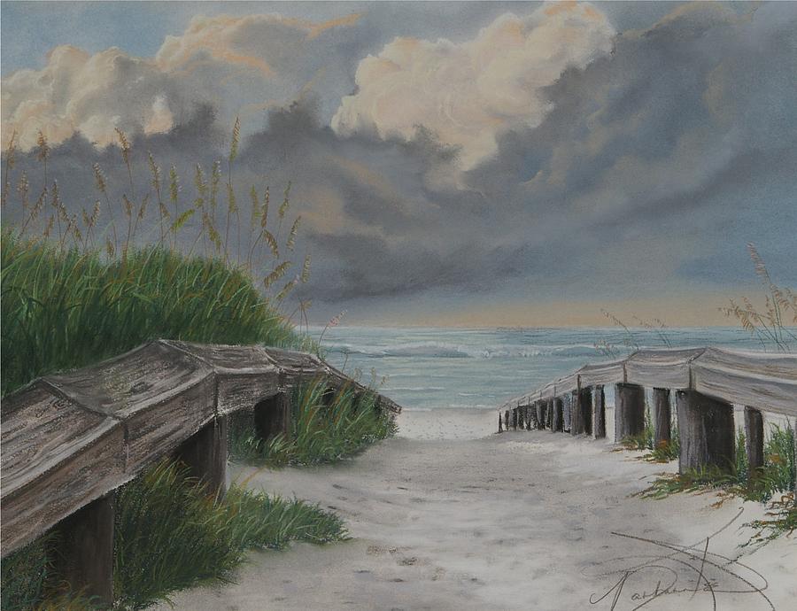 Beach Pastel - Before Katrina by Barbara Keel