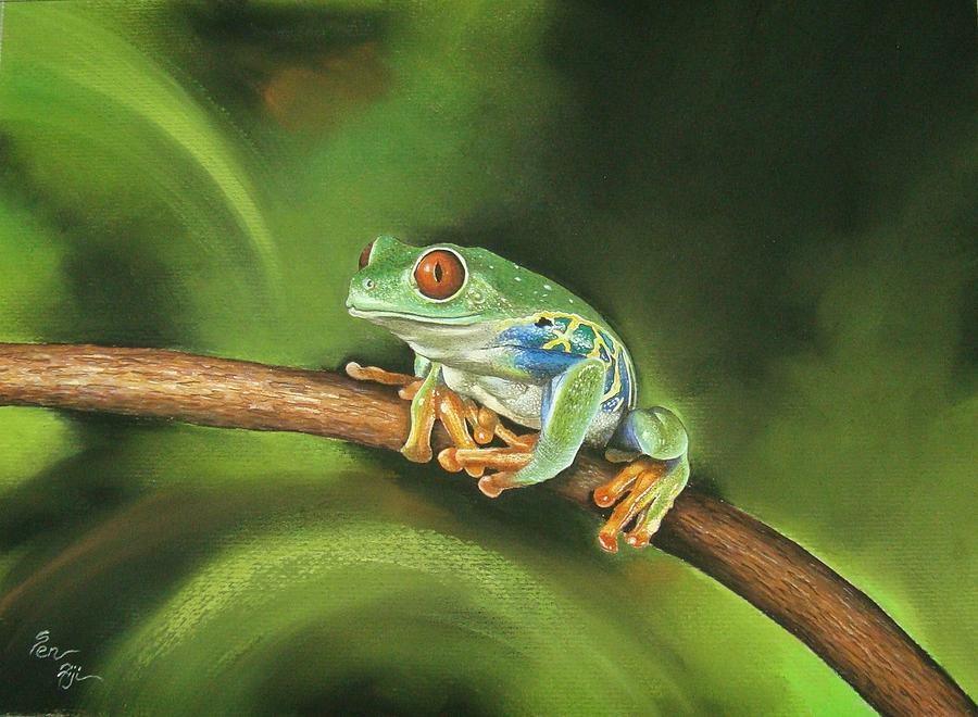 Frogs Painting - Before Leap by Pravin  Sen