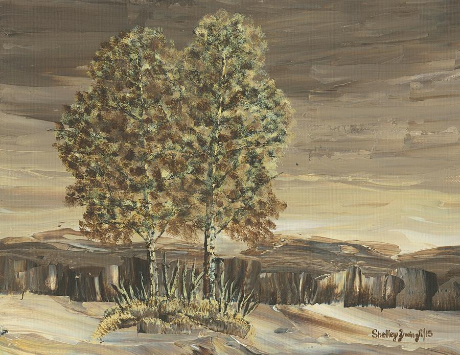 Poplar Painting - Before Our Time by Shelley Zwingli