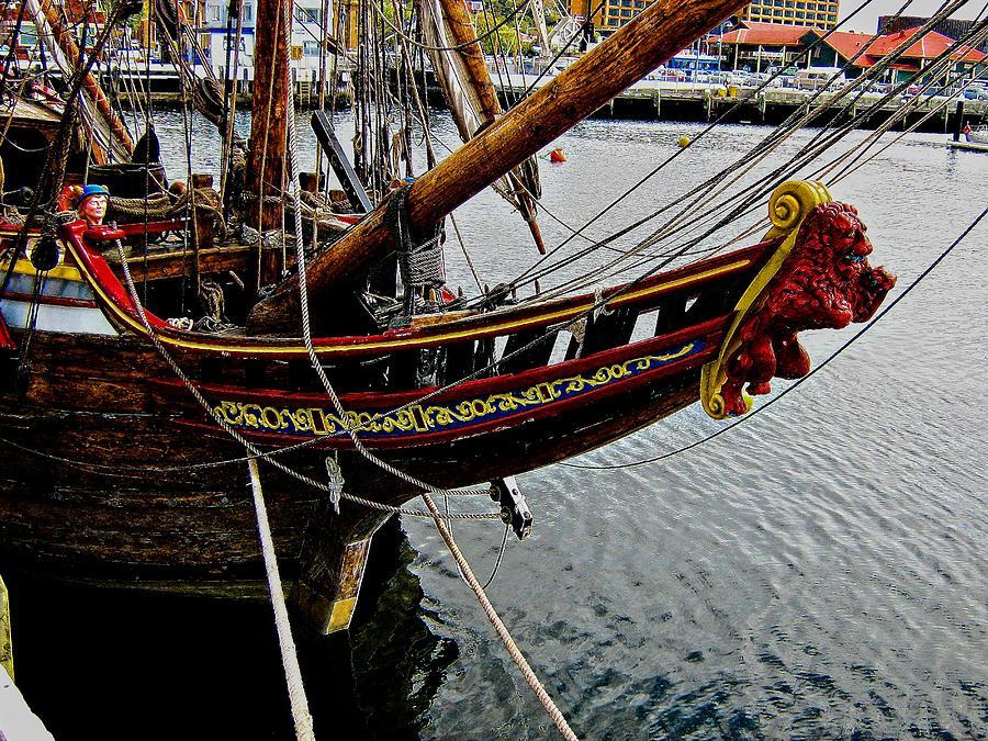 Wooden Ship Photograph - Before Setting Sail by Douglas Barnard
