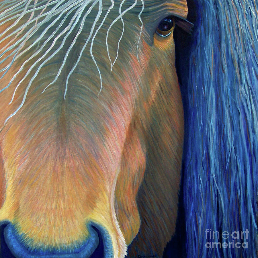 Horse Painting - Before Sundown by Brian  Commerford