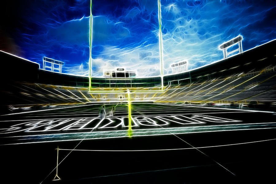 Lambeau Field Photograph - Before The Big Game by Lawrence Christopher