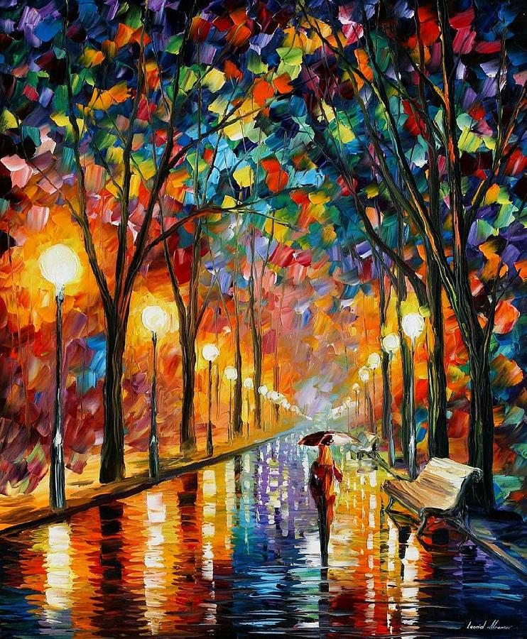 afremov painting before the celebration by leonid afremov