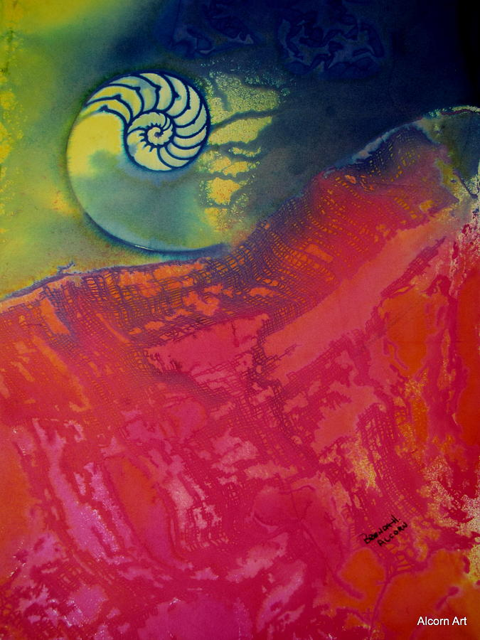 Nautilus Painting - Before The Dawn by Brenda Alcorn