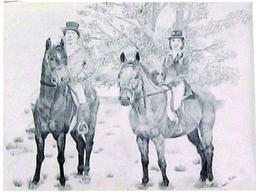 Foxhunt Drawing - Before The Hunt by Navah Ross