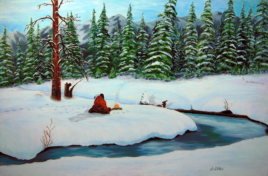 Landscape Painting - Before The Next Snowfall by Nick Petkov