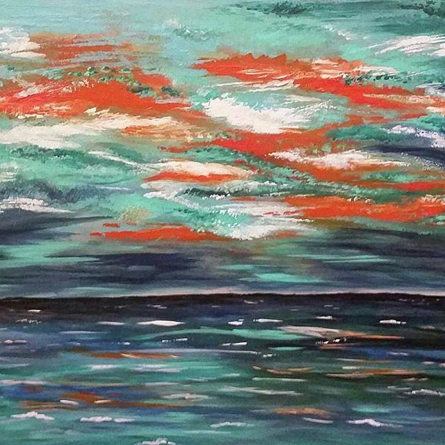 Abstract Painting - Before The Storm by Amber Tattersall