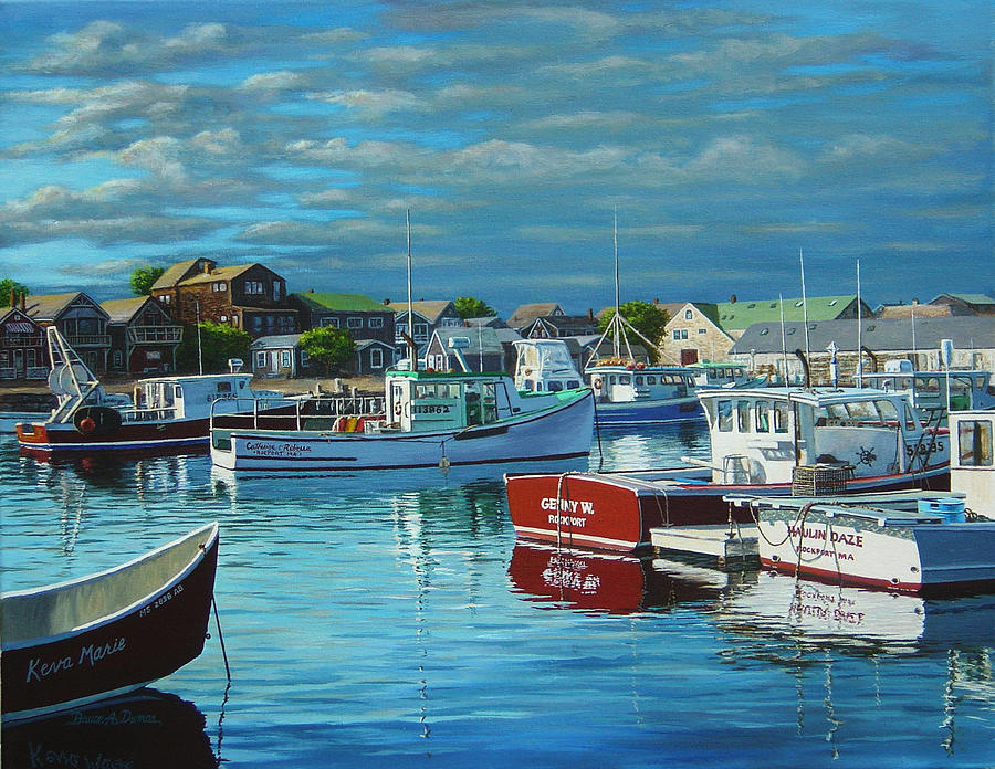 Boat Painting - Before The Storm by Bruce Dumas