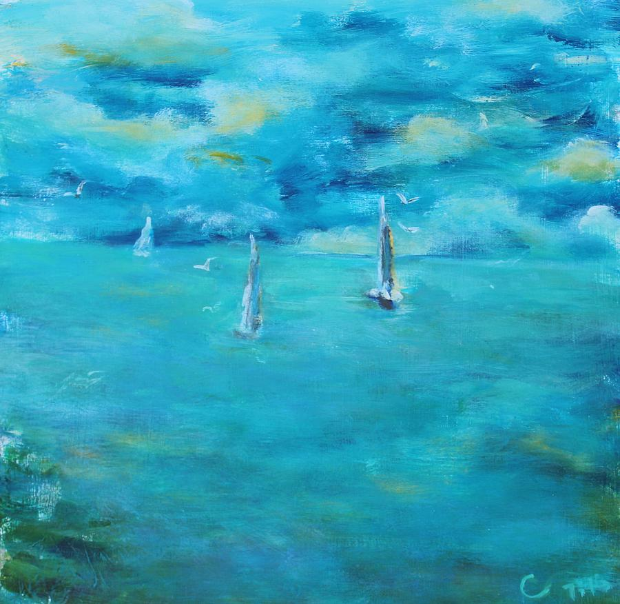 Seascape Painting - Before The Storm by Chaline Ouellet