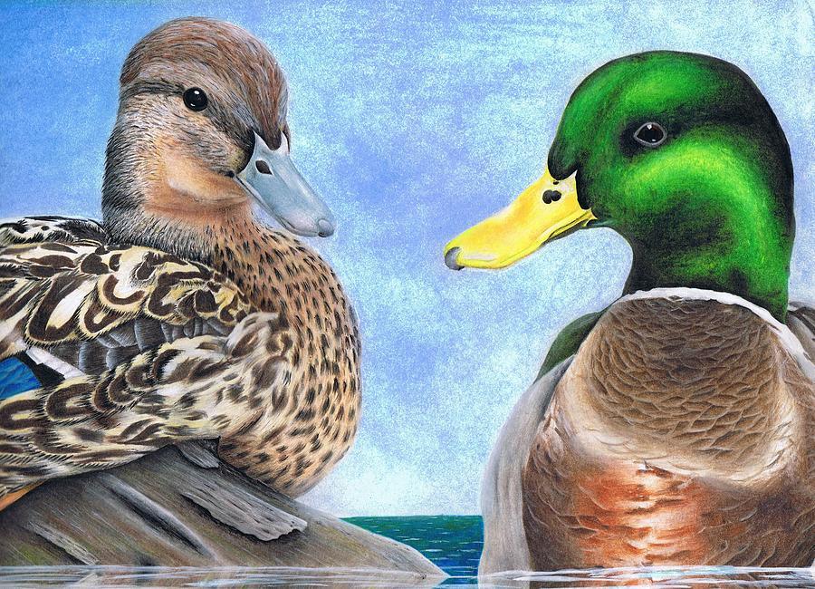 Wildlife Painting - Befowled Water by Brandon Sharp