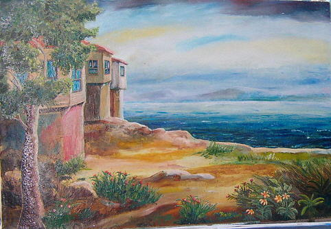 Landscape Painting - Begin To Paint 1 by Fahrettin  Oktay