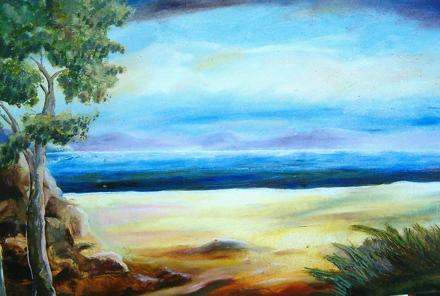 Landscape Painting - Begin  To Paint by Fahrettin  Oktay