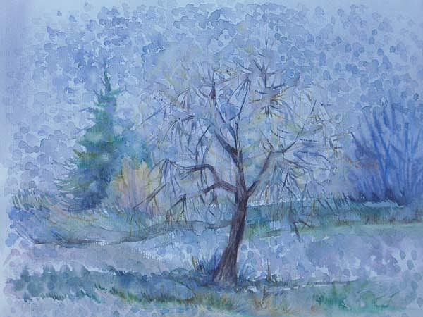 Autumn Painting - Beginning Of Another Winter by Anna  Duyunova