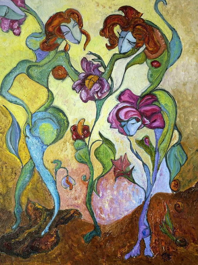 Figurative Art Paintings Painting - Beginning by Mila Ryk
