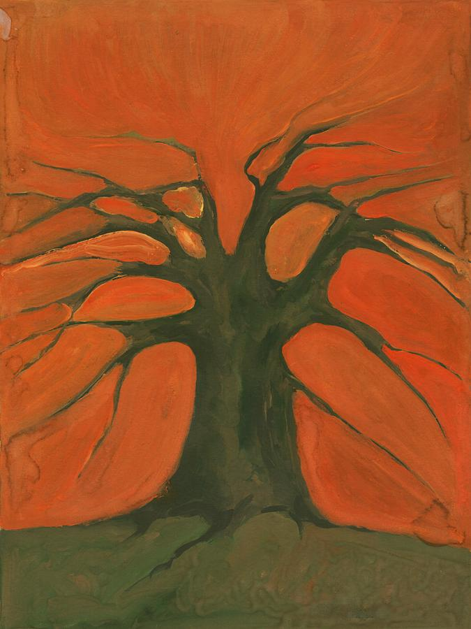 Colour Painting - Beginning Of Life by Wojtek Kowalski