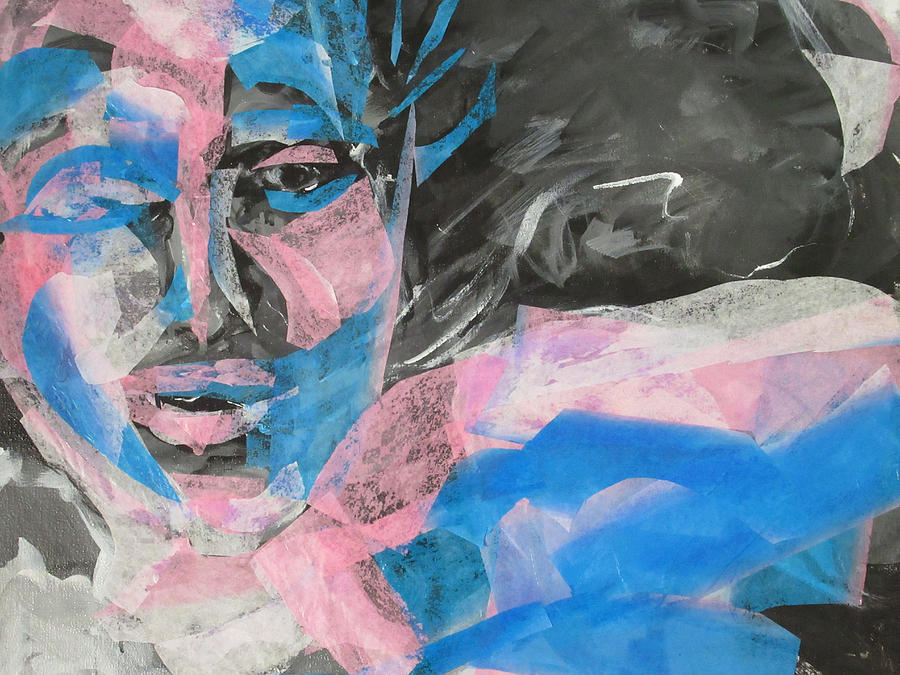 Blue Mixed Media - Behind Blue by Amy Casteel