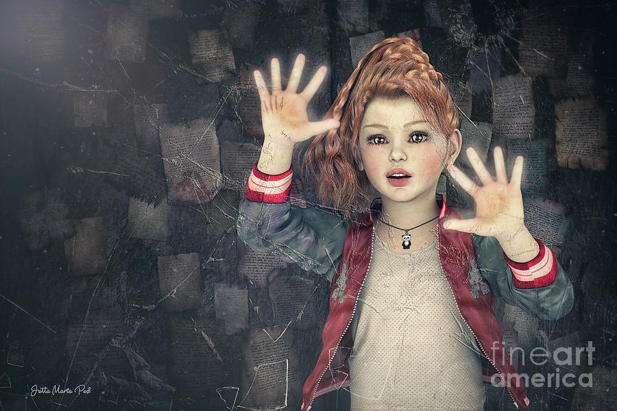 3d Digital Art - Behind Broken Glass by Jutta Maria Pusl