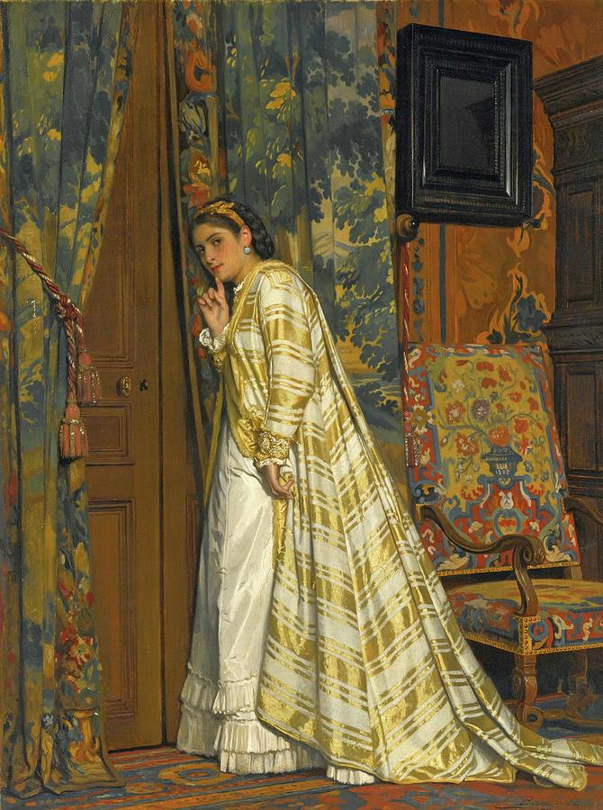 Behind Closed Doors Painting - Behind Closed Doors by Charles Baugniet